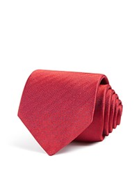 Eton Of Sweden Herringbone Classic Tie Red