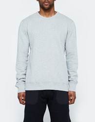 Reigning Champ Ls Crewneck Lightweight Terry In Heather Grey