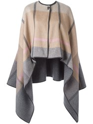 Salvatore Ferragamo Asymmetric Cape Grey