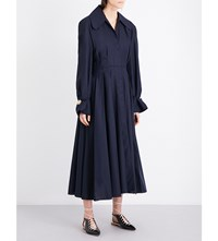 Jacquemus Pleated Wool Coat Navy