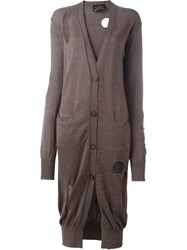 Vivienne Westwood Anglomania Long Cardigan Brown