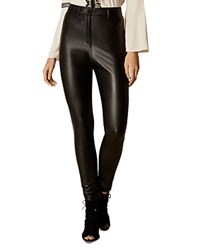 Karen Millen Faux Leather Pants Black