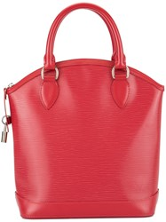 Louis Vuitton Vintage Lockit Hand Tote Bag Red