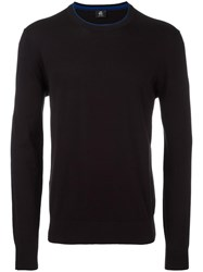Paul Smith Ps By Ribbed Trim Jumper Blue
