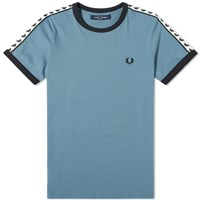 Fred Perry Authentic Taped Ringer Tee Blue