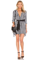 Equipment Kate Moss For Rosalind Button Up Dress Black And White