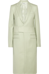 Givenchy Melton Wool Blend Coat With Neoprene Detail