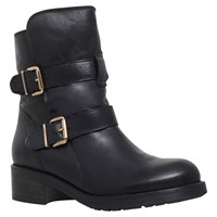 Kurt Geiger Richmond Leather Low Heel Ankle Boots Black