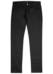Raf Simons Black Coated Twill Slim Fit Jeans