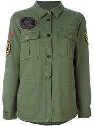 Zadig And Voltaire Military Shirt Jacket Green