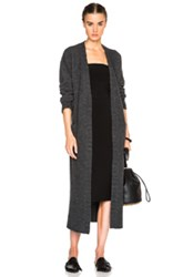 Jenni Kayne Long Sweater Coat In Gray
