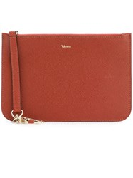 Valextra Classic Clutch Brown