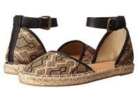 Seychelles Circle Natural Black Woven Women's Flat Shoes Brown