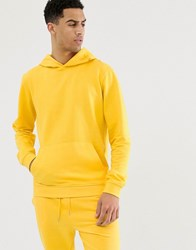 Bellfield Jersey Hoodie In Yellow