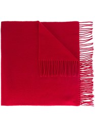 Wood Wood 'Kardin' Fringed Scarf Red