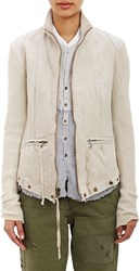 Greg Lauren Combo Moto Jacket Yellow