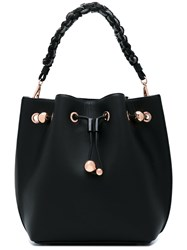 Sophia Webster Braided Strap Bucket Tote Women Calf Leather One Size Black