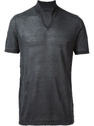 Transit V Neck T Shirt Grey
