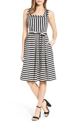 Anne Klein Women's Stripe Fit And Flare Dress