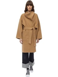J.W.Anderson Wool And Cashmere Wrap Coat Camel