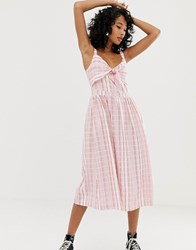Pepe Jeans Simonetta Stripe Maxi Dress Red