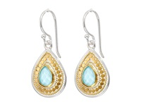 Anna Beck Small Turquoise Teardrop Earrings Sterling Silver 18K Gold Vermeil Earring