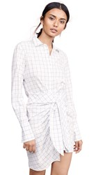 Habitual Charlize Tie Front Tunic Flecked Check