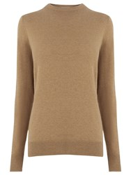 Warehouse Crew Neck Jumper Camel