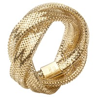 A B Davis 9Ct Multi Flexi Twist Mesh Ring Yellow Gold