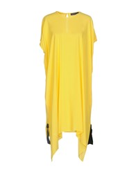 Fabrizio Lenzi Short Dresses Yellow