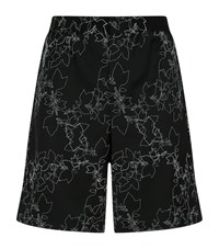 Emporio Armani Embroidered Wool Shorts Male Black