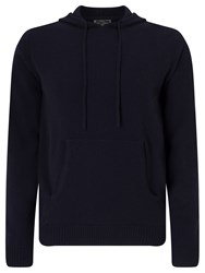 John Lewis Made In Italy Premium Cashmere Hoodie Navy