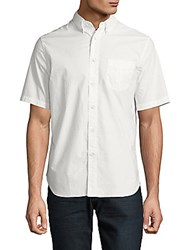 Rag And Bone Classic Fit Short Sleeve Cotton Casual Shirt Yellow Multicolor