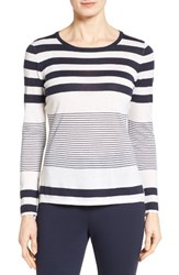 Nordstrom Women's Collection Engineered Stripe Cashmere Pullover