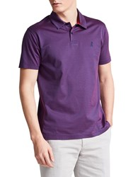 Thomas Pink Armstrong Textured Classic Fit Polo Shirt Navy