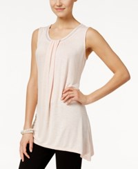 Styleandco. Style And Co. Sleeveless Beaded Top Only At Macy's Crushed Petal