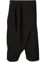Forme D'expression Cropped Wrap Trousers Black