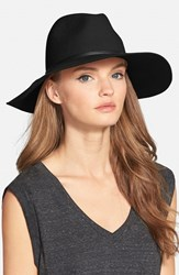 Women's Hinge Wide Brim Panama Hat Black