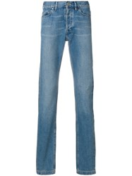 Lanvin Faded Side Stripe Jeans Blue