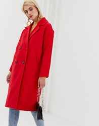 Vero Moda Double Breasted Coat Chinese Red