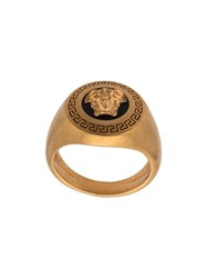 Versace Enamel Icon Medusa Ring Gold