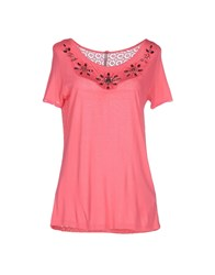 Scee By Twin Set Topwear T Shirts Women Fuchsia