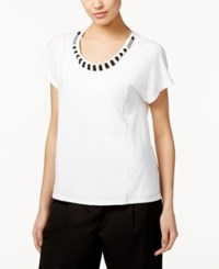 Max Mara Weekend Opale Beaded T Shirt White