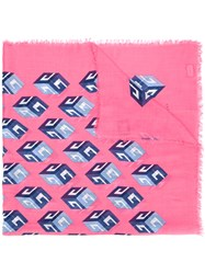 Gucci Cube Print Shawl Pink Purple