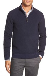 Men's Ted Baker London Ribbed Quarter Zip Pullover