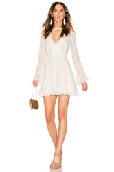 Endless Rose Flared Lace Dress With Bell Sleeves White