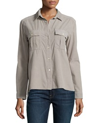 James Perse Double Pocket Button Up Shirt Shadow