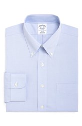 Brooks Brothers Big And Tall Regular Fit Solid Dress Shirt 3 For 207 Light Pastel Blue