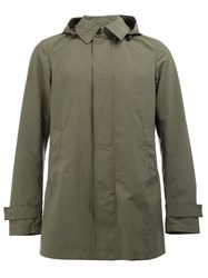 Herno Collared Hooded Jacket Green