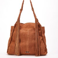 Dolce Vita Collection Handbags Cali Suede Tote With Fringesaddle